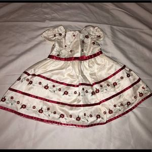 George Satin Rose Special Occasion Dress sz 18m